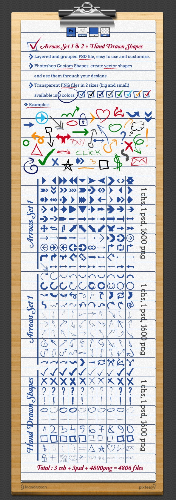 Arrows and Hand Drawn Shapes and Custom Symbols - Photoshop Add-ons