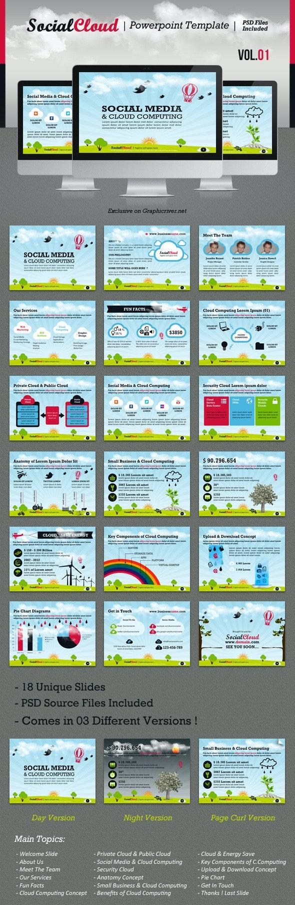 SocialCloud Powerpoint Template V.01 - Creative PowerPoint Templates