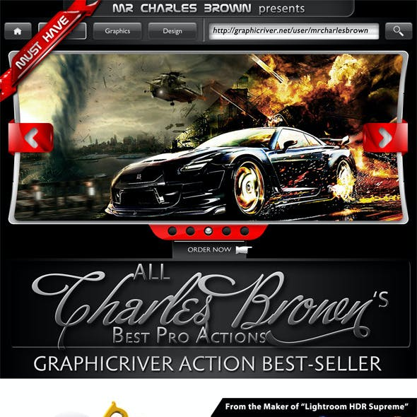 All Charles Brown's Pro Actions Bundle