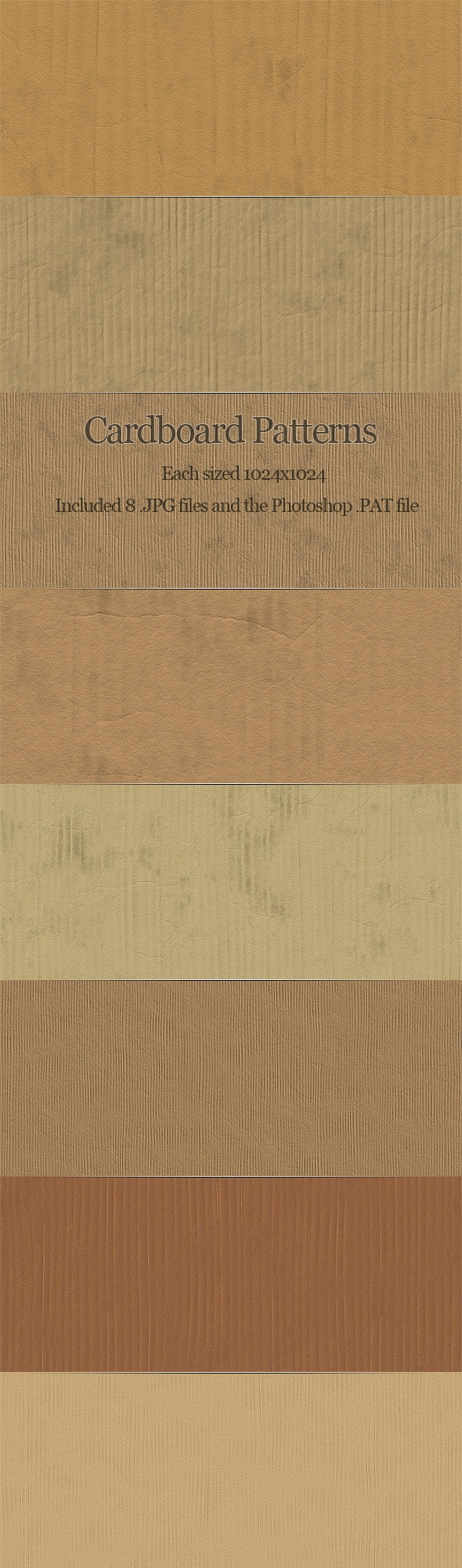 Cardboard Patterns - Miscellaneous Textures / Fills / Patterns