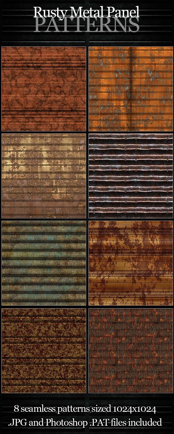 Rusty Metal Panel Patterns - Urban Textures / Fills / Patterns