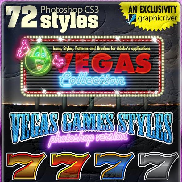 VEGAS GAMES STYLES: 72 Photoshop Styles