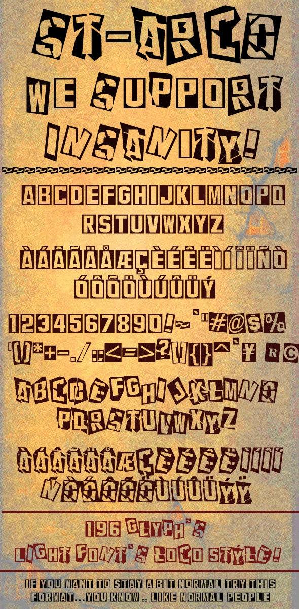 sTArco font  - Comic Decorative