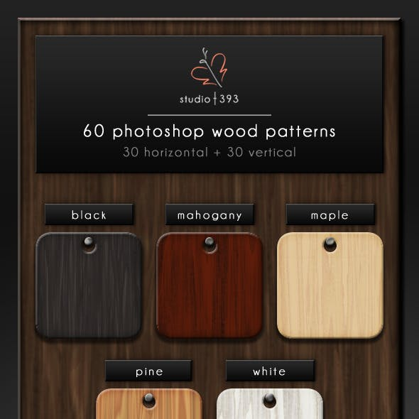 60 (5x6x2) Seamless Wood Patterns for Photoshop