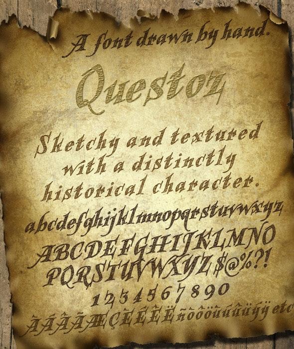 Questoz: Historical Lettering Font