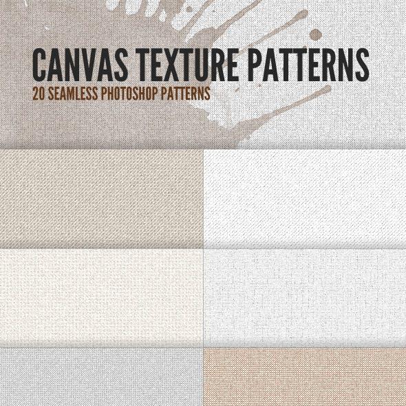 20 Canvas Texture Patterns