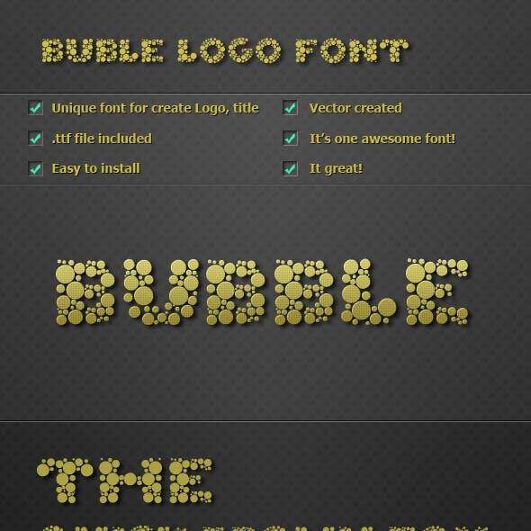 Bubble Logo Font v1.0
