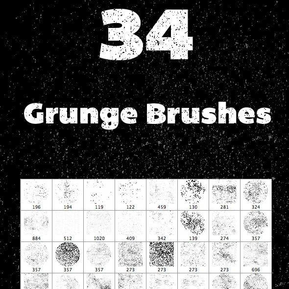 34 Grunge Brushes