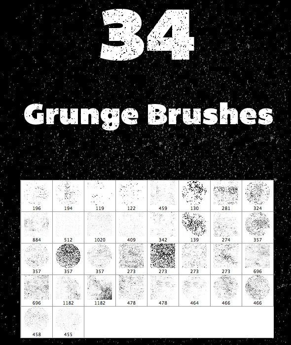 34 Grunge Brushes - Grunge Brushes