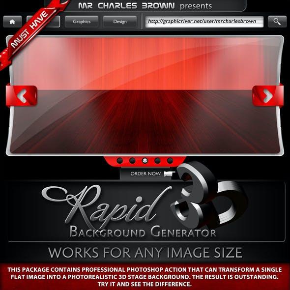 3D Background Generator Graphics, Designs & Template