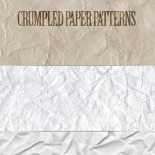 Crumpled Paper Patterns