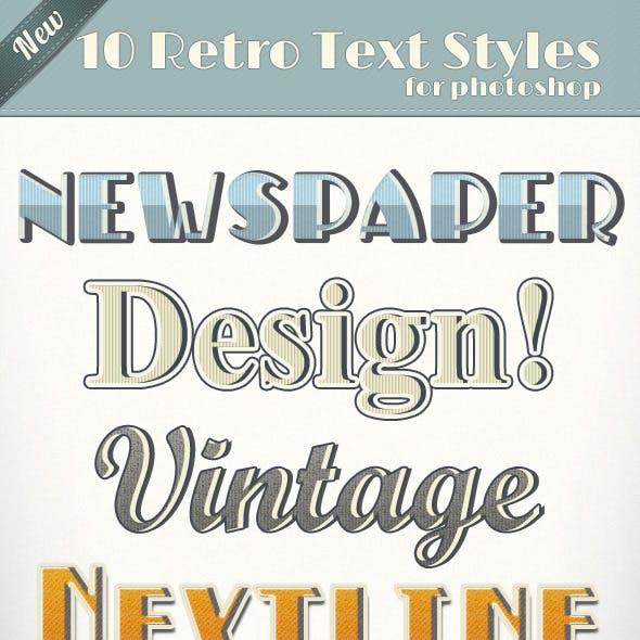Vintage Retro Text Styles