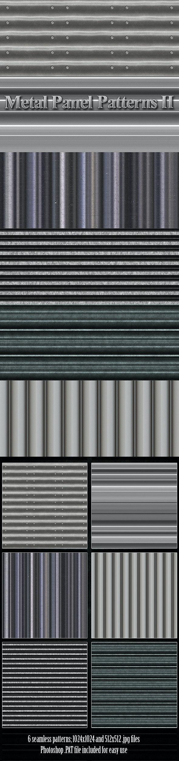 Metal Panel Patterns 2 - Urban Textures / Fills / Patterns