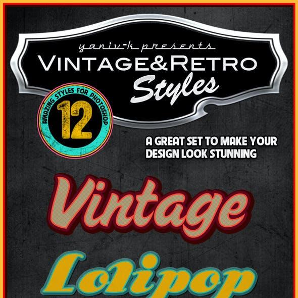 Vintage Retro Photoshop Styles