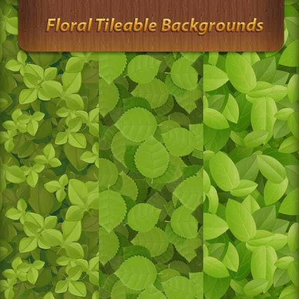 Floral Tileable Backgrounds