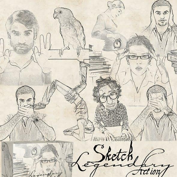 Sketch Legendary Image Action