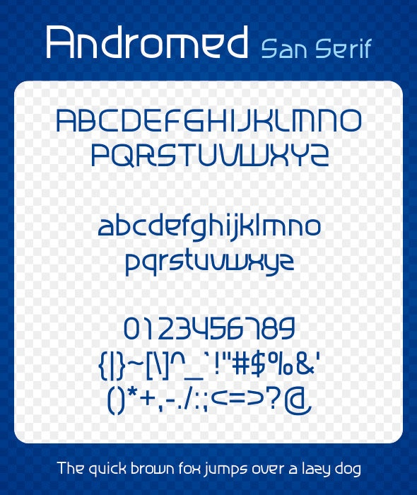 Andromed - Sans-Serif Fonts