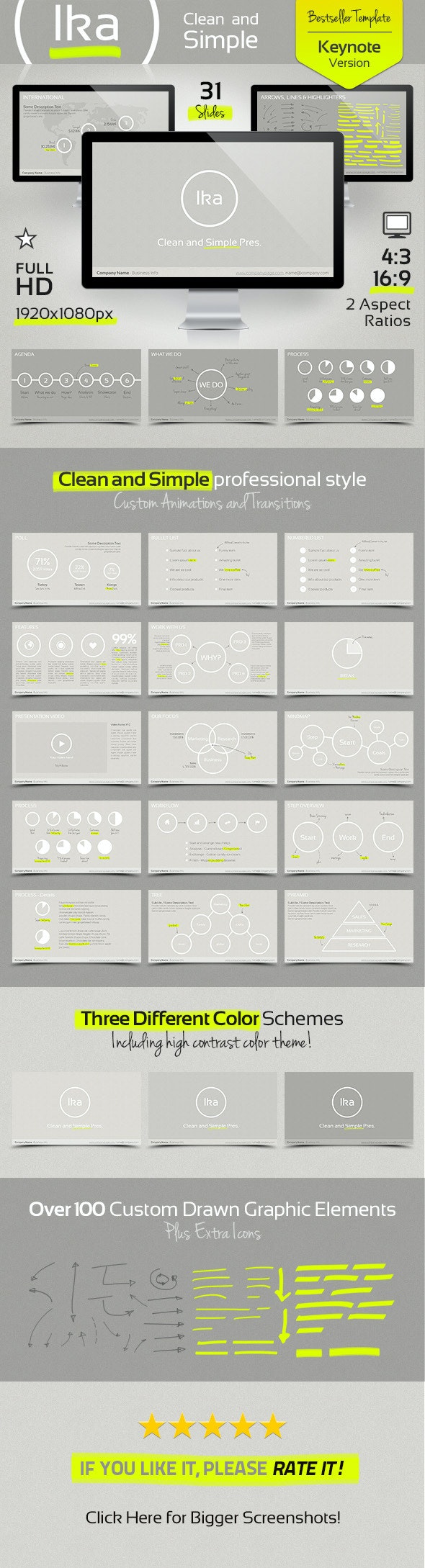 Ika - Clean and Simple Keynote Template - Presentation Templates