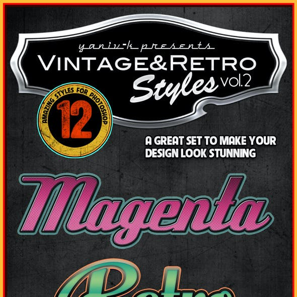 Vintage Retro Photoshop Styles Vol.2