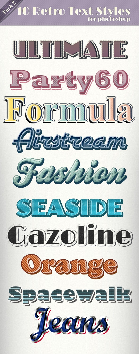 Vintage Retro Text Styles 2 - Text Effects Styles