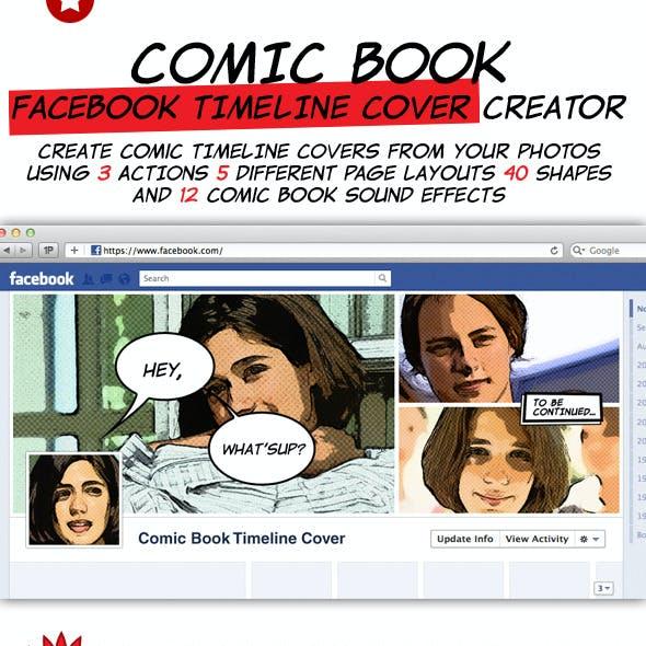 Comic Book Facebook Timeline Cover Creation Kit