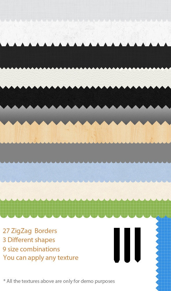 27 ZigZag Border Patterns - Textures / Fills / Patterns Photoshop