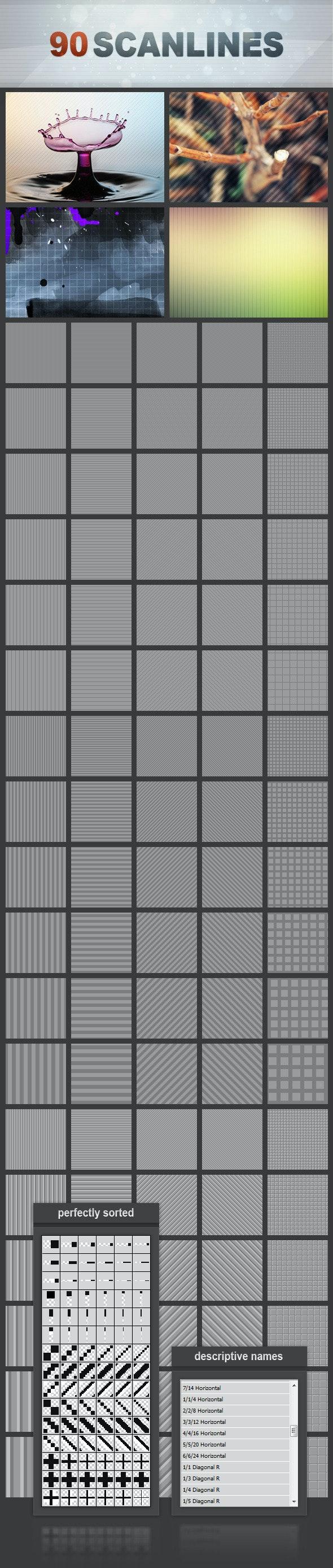 90 Scanlines Mega Pack - Miscellaneous Textures / Fills / Patterns