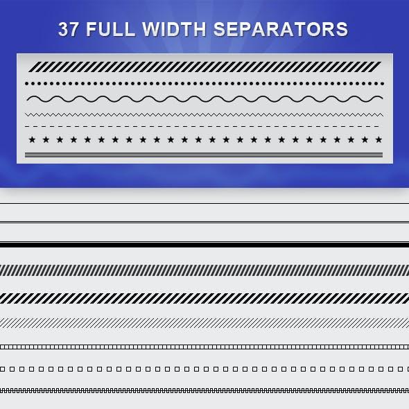 Full Width Separators Pack