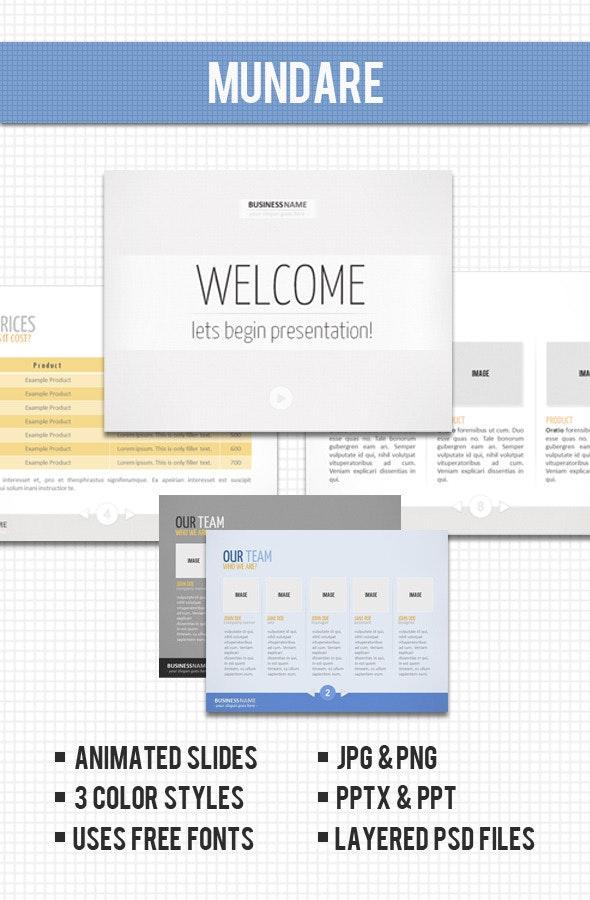 Mundare - PowerPoint Presentation - PowerPoint Templates Presentation Templates