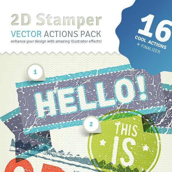 2D Trash Stamper - Vector Actions Pack