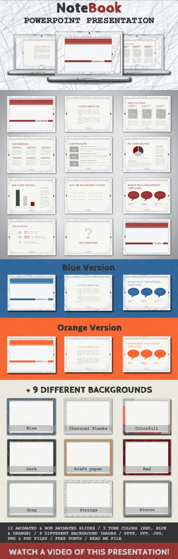 NoteBook - PowerPoint Template - PowerPoint Templates Presentation Templates