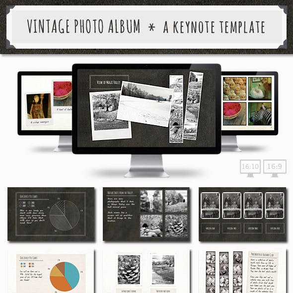 Vintage Photo Album Keynote Template