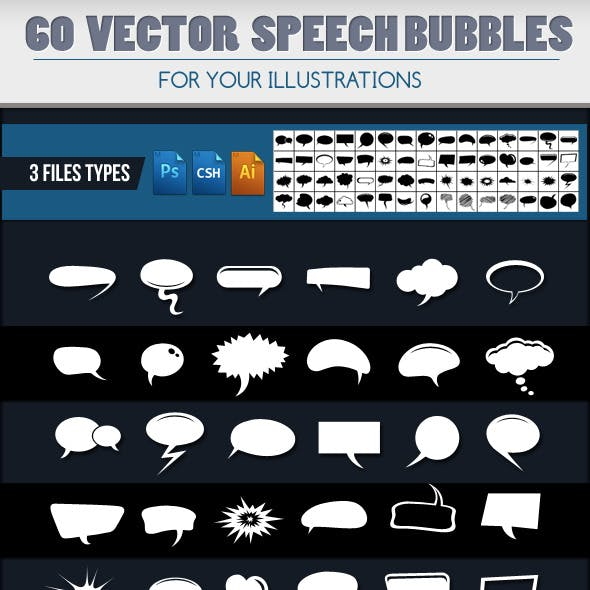 60 Speech Bubbles