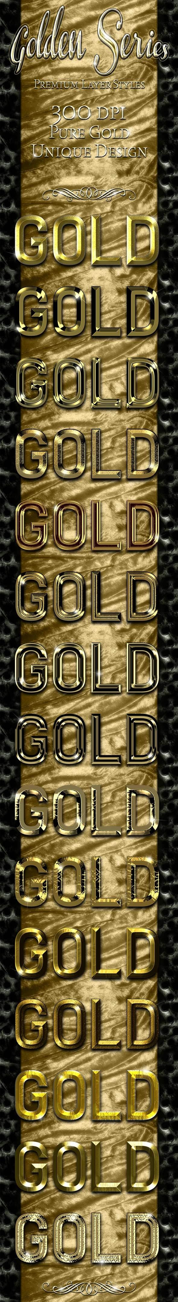 Golden Series - Premium Layer Styles - Text Effects Styles