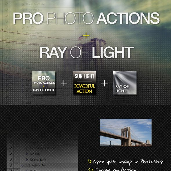PRO Photo Actions + Ray of Light