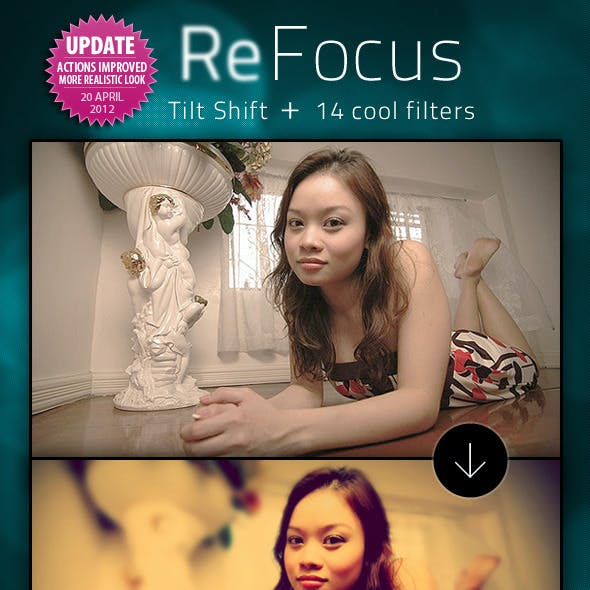 ReFocus - Tilt Shift + 14 Photo Filters