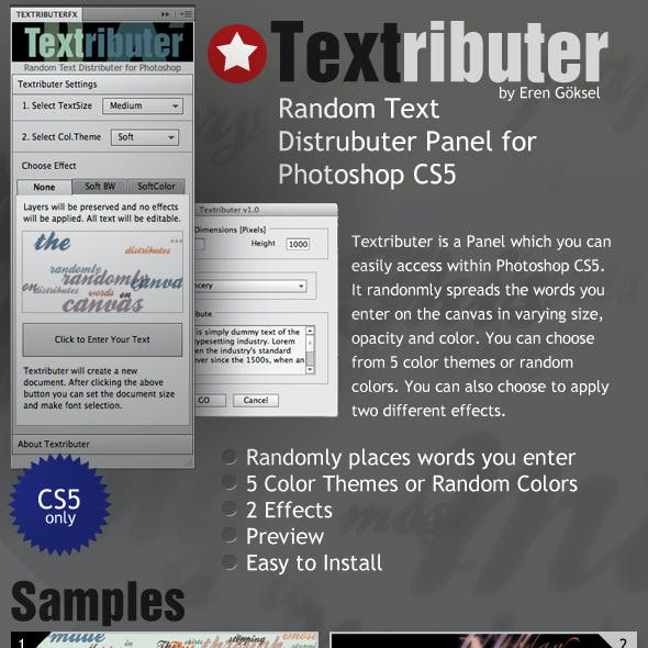 Textributer Panel - Random Text Distributer