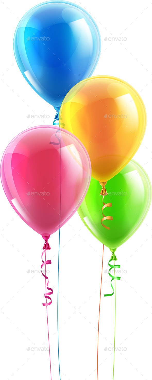 Birthday Party Balloon Set - Objects Vectors
