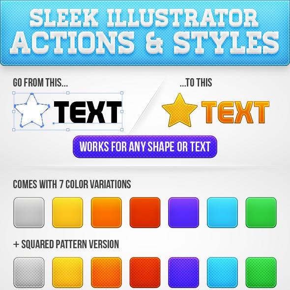 Sleek Illustrator Actions & Styles