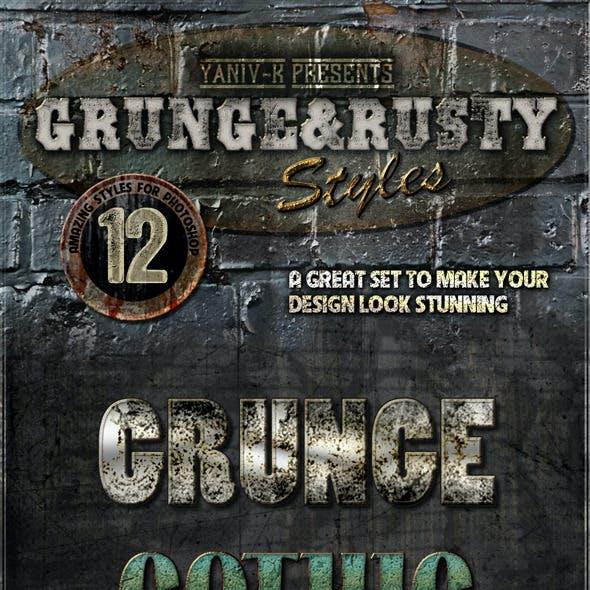 Grunge Rusty Photoshop Styles Vol.1