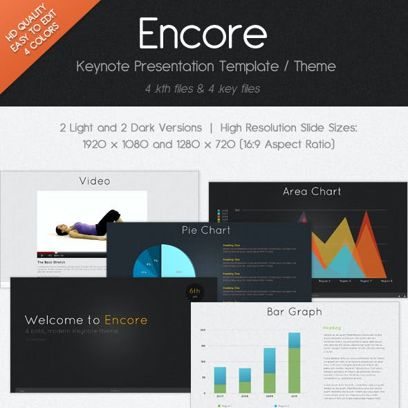 Encore Keynote Presentation Template