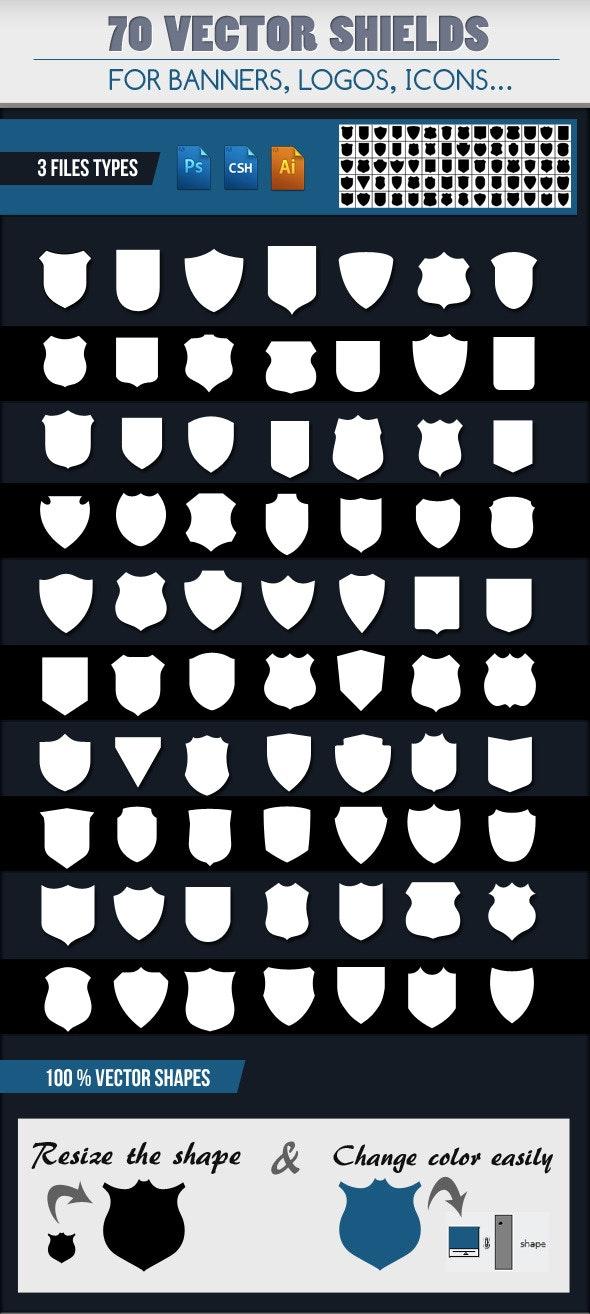 70 Emblem Shields  - Objects Shapes