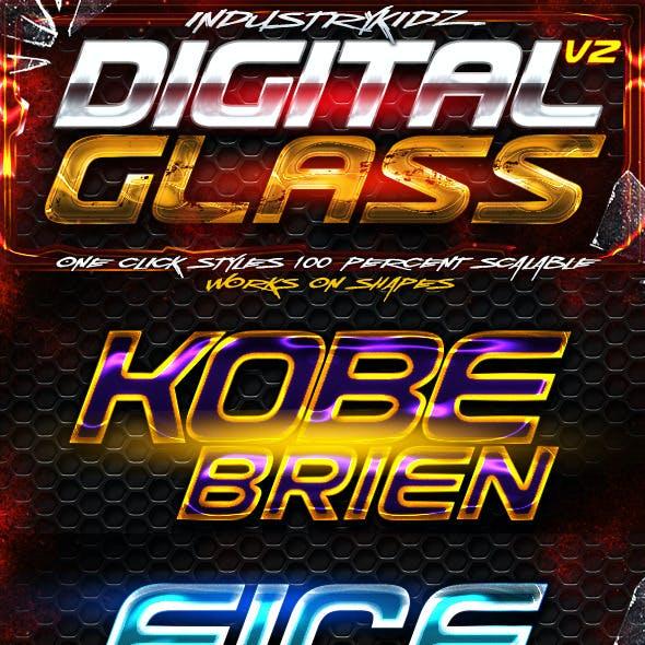 Digital Glass Photoshop Styles V2
