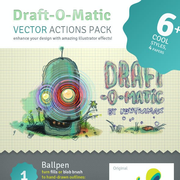 Draft-O-Matic Sketchbook - Vector Actions Pack