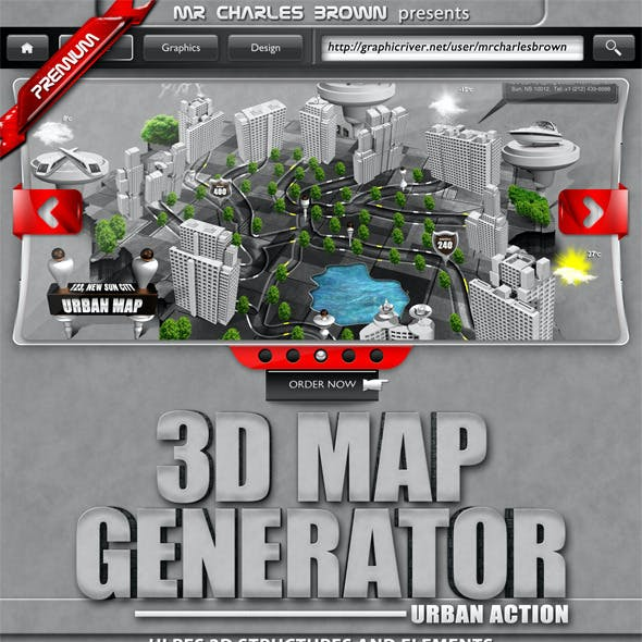 3D Map Graphics, Designs & Templates from GraphicRiver