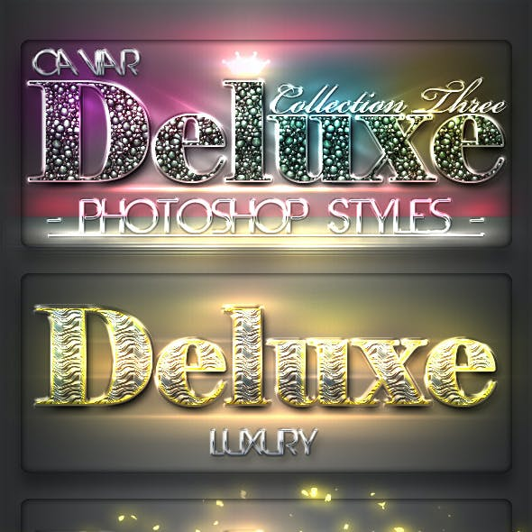 10 DeLuxe Photoshop Layer Styles C3 + Lights