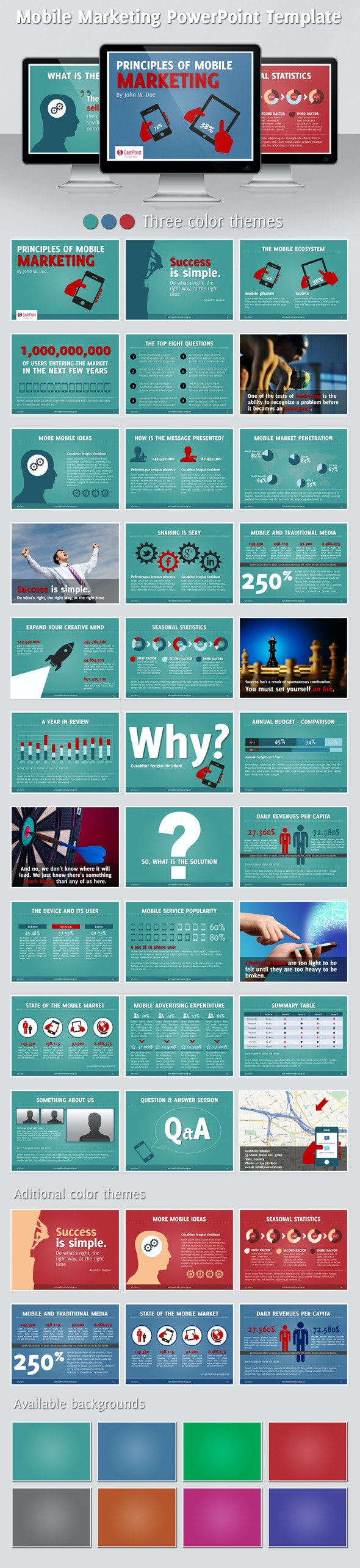 Mobile Marketing PowerPoint Template - PowerPoint Templates Presentation Templates