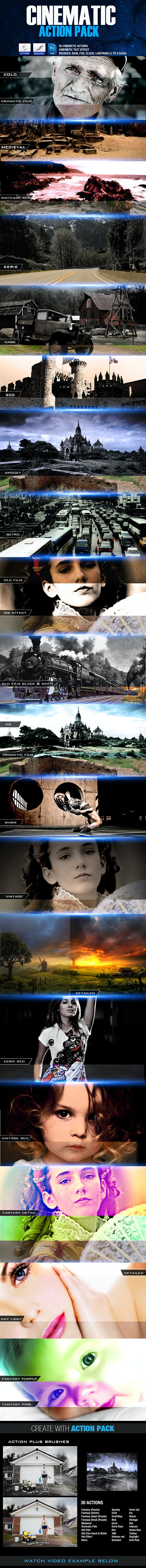 Cinematic Action Pack - Photo Effects Actions