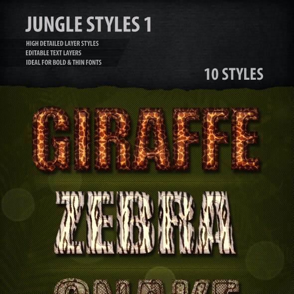 Jungle Text Styles 1