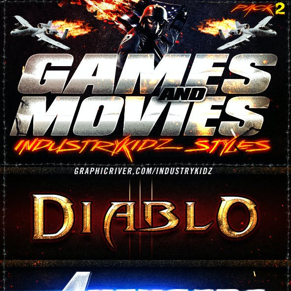 Game and Movies Photoshop Styles V2